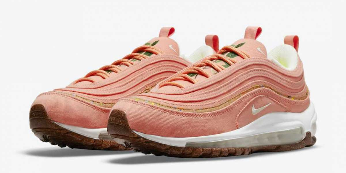 2021 New Nike Wmns Air Max 97 Cork Coral Pink DC4012-800 Sale On Line !