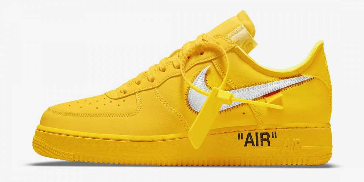 Where to buy 2021 New Off-White x Nike Air Force 1 Low University DD1876-700 shoes?