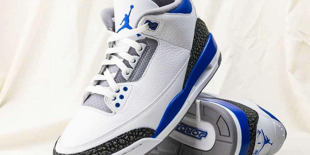 "New Arrive 2021 Air Jordan 3 ""Racer Blue"" Basketball Shoes CT8532-145 For Sale Online"