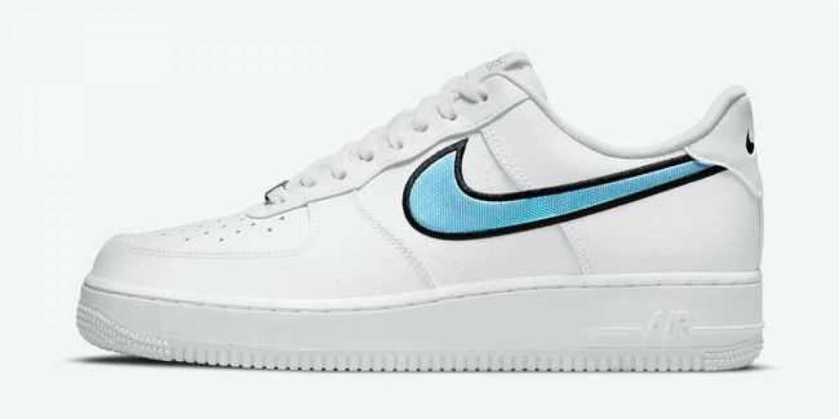 2021 New Nike Air Force 1 Low White Iridescent Swooshes DN4925-100